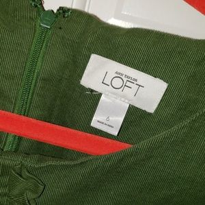 Corduroy green mild length Loft dress..